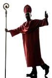 Силуэта епископа человека благословение кардинального салютуя Стоковые Фотографии RF