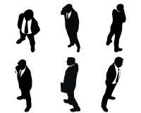 6 силуэтов бизнесменов Стоковые Изображения