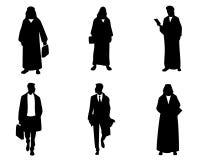 Силуэты арабских бизнесменов Стоковые Изображения