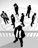 Силуэты бизнесменов Стоковая Фотография