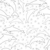 Силуэты вектора дельфинов иллюстрация вектора