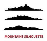 силуэты горы Стоковая Фотография