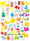 силуэты животных иллюстрация вектора
