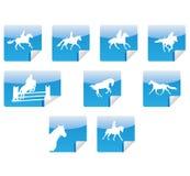 силуэты икон лошадей Иллюстрация вектора