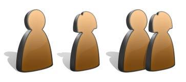 силуэты людей икон Стоковое Изображение RF