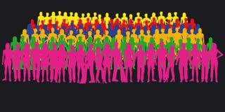 силуэты людей Стоковая Фотография