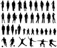силуэты людей Стоковая Фотография RF