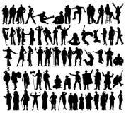 силуэты людей Стоковое Изображение RF