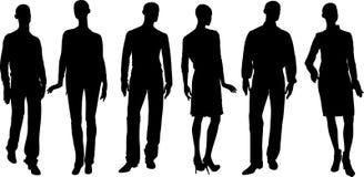Силуэты людей вектора Стоковое Фото