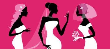 силуэты невест бесплатная иллюстрация