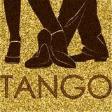 Силуэты ног людей танцев Стоковое фото RF