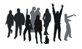 силуэты партии Стоковая Фотография RF