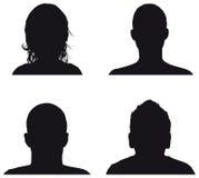 Силуэты профиля людей Стоковая Фотография