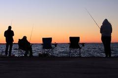 силуэты пункта рыболовства cleveland Стоковое фото RF