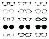 Силуэты различных eyeglasses Стоковое Изображение RF