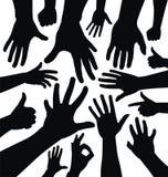 Силуэты руки бесплатная иллюстрация