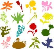 силуэты цветка Стоковые Изображения RF