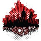 силуэты grunge города Стоковая Фотография RF