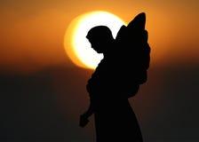 силуэт ангела Стоковые Фото