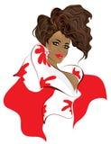 силуэт афроамериканца модельный Стоковая Фотография RF