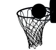 силуэт баскетбола Стоковые Фотографии RF