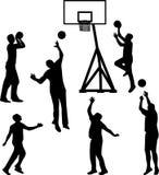 силуэт баскетболиста иллюстрация штока