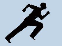 силуэт бегунка человека Стоковое Фото