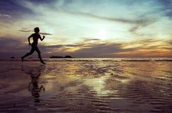 Силуэт бегунка Стоковое Изображение RF