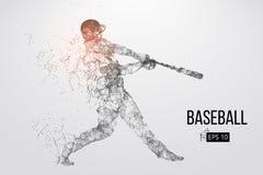 Силуэт бейсболиста также вектор иллюстрации притяжки corel иллюстрация вектора