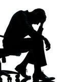 силуэт бизнесмена одного Стоковая Фотография RF