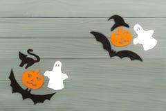 Силуэт бумаги хеллоуина различных характеров Стоковые Фотографии RF