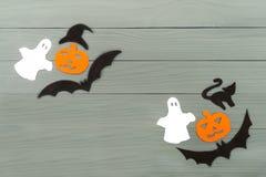 Силуэт бумаги хеллоуина различных характеров Стоковое фото RF