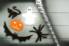 Силуэт бумаги хеллоуина различных характеров Стоковое Изображение RF