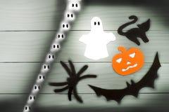 Силуэт бумаги хеллоуина различных характеров Стоковые Изображения RF