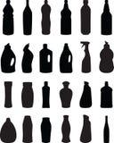 силуэт бутылки Стоковое фото RF