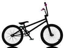 Силуэт велосипеда Bmx Стоковые Фото