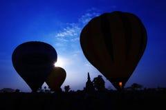 силуэт воздушного шара Стоковые Изображения