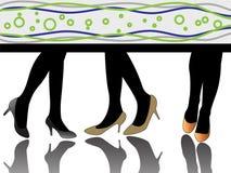 силуэт высоких ног пяток сексуальный Стоковое Изображение RF