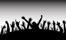 силуэт выставки толпы Стоковое Изображение