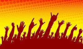 силуэт выставки толпы Стоковые Фотографии RF