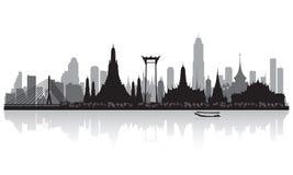 Силуэт горизонта города Бангкока Таиланда Стоковые Фото