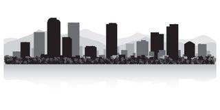 Силуэт горизонта города Денвера Колорадо иллюстрация вектора