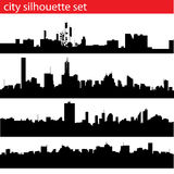 силуэт города установленный бесплатная иллюстрация