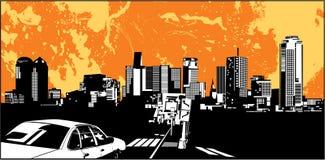 силуэт города Стоковое Изображение RF