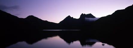 силуэт горы вашгерда Стоковые Фото