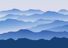 силуэт гор утра Стоковая Фотография RF