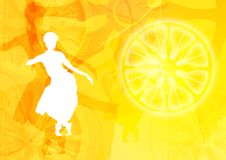 силуэт графика танцора Стоковое Изображение RF