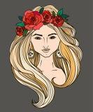 Силуэт девушки с длинными волосами бесплатная иллюстрация