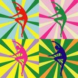 Силуэт девушки танцев Стоковые Фото