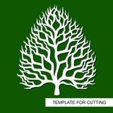 Силуэт дерева без листьев иллюстрация вектора